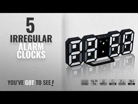 Top 10 Irregular Alarm Clocks [2018 ]: LED Digital Alarm Clock For Desk / Shelf / Tabletop, Modern