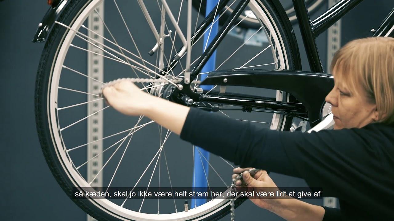 skifte gear på cykel
