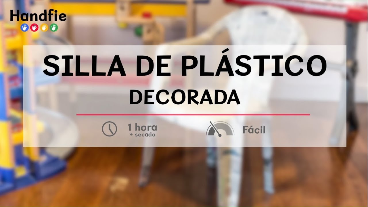 C mo decorar una silla de pl stico handfie diy youtube for El mundo del mueble sillones