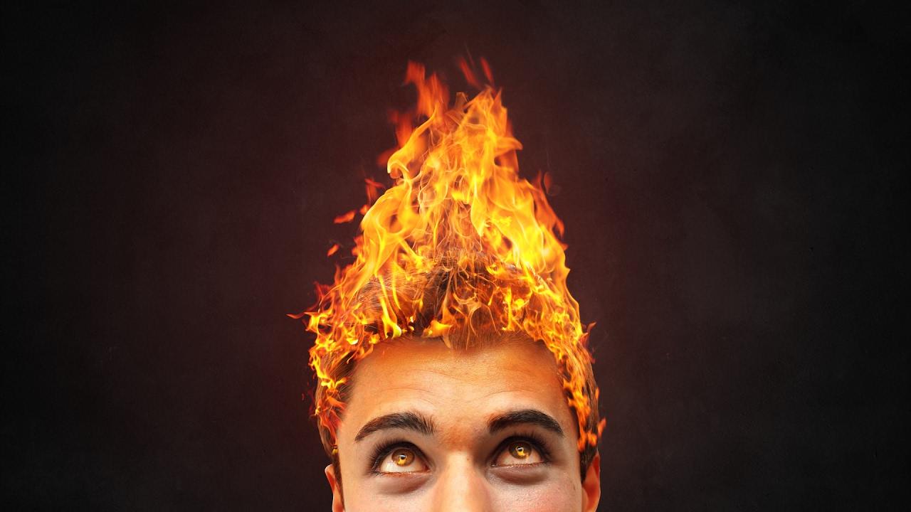fire hair - tutorial