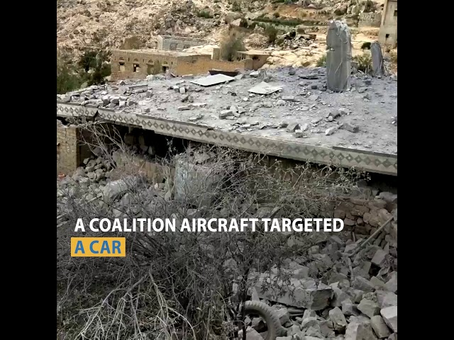 Civilians in Hajour are between the coalition raids and the Houthi missiles