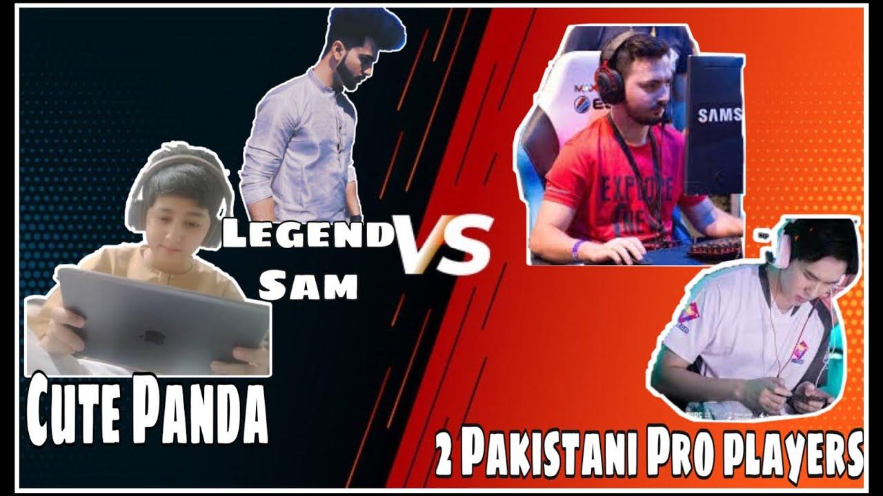 Cute Panda and Legend Sam vs 2 pakistani pro players | Intense fight | 10 years old Gamer Boy