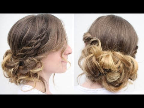 Easy DIY Twisted Updo | Easy Hairstyles | Braidsandstyles12