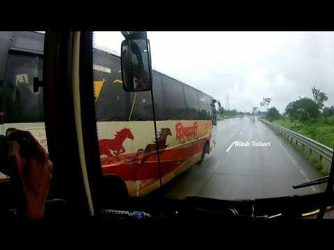 Overtaking MSRTC Shivshahi And Hirkani Bus On Mumbai Pune Expressway