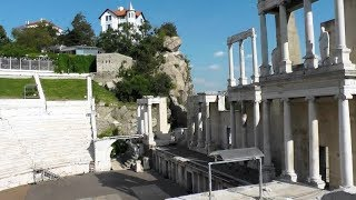 Ancient Roman Theatre and Stadium Plovdiv Bulgaria - tourist attraction history visit travel