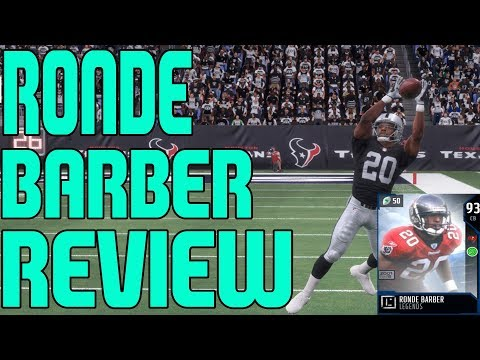 93 LEGEND RONDE BARBER REVIEW | MADDEN 18 ULTIMATE TEAM PLAYER REVIEW