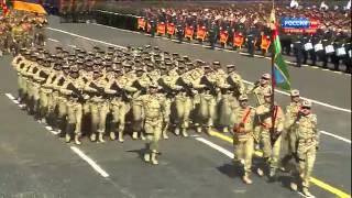 Азербайджанские военные на Параде Победы на Красной Площади 9 мая 2015 года