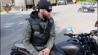 Street Bob Owner rides a 2018 Harley-Davidson Softail Fatbob.