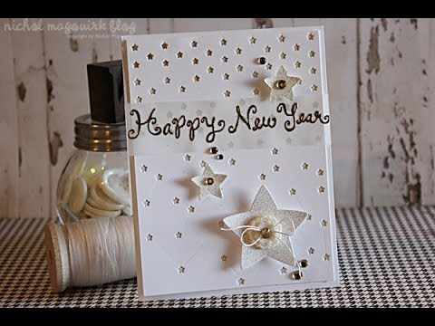 Lawn Fawn + Thermoweb | Happy New Year Card
