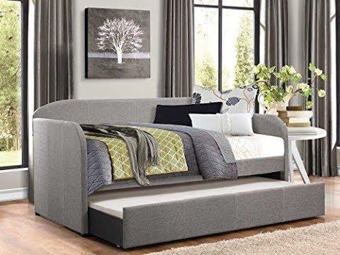 best modern daybed with trundle youtube. Black Bedroom Furniture Sets. Home Design Ideas