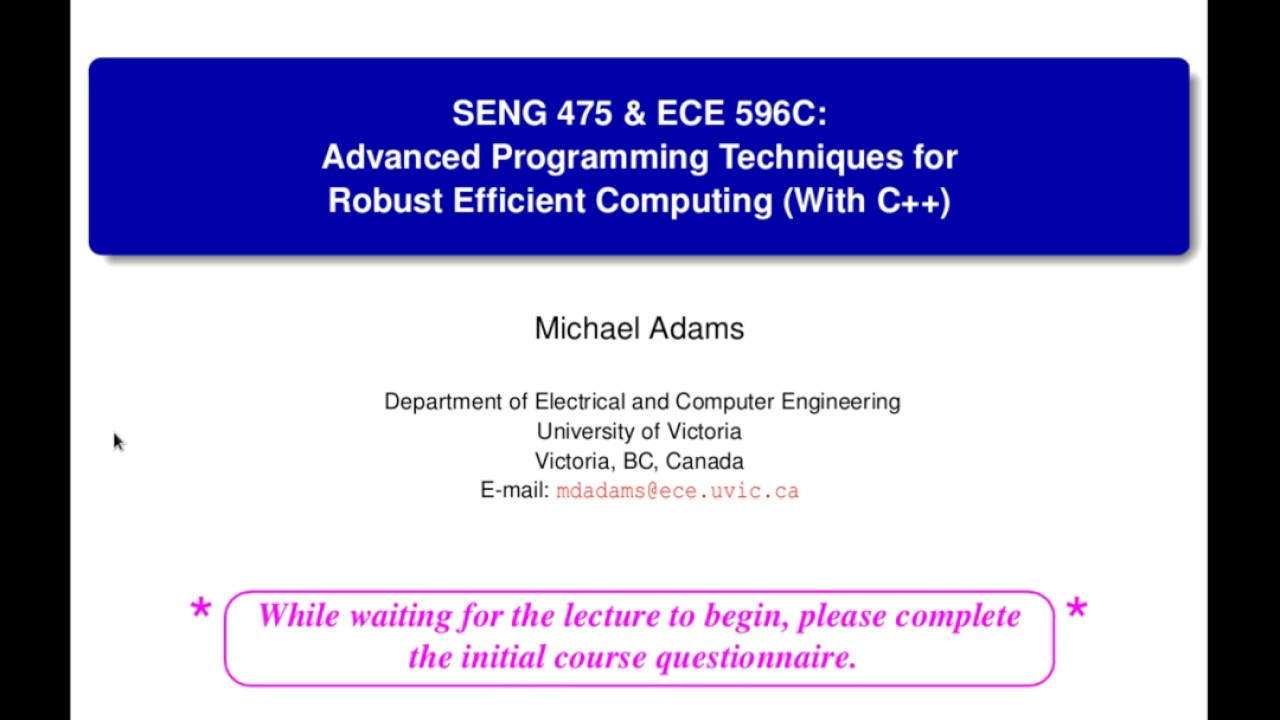 ECE 260 — Continuous-Time Signals and Systems