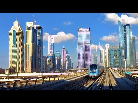 Dubai Metro in HD | A World Class Metro Train & Station | HD View of Sheikh Zayed Road
