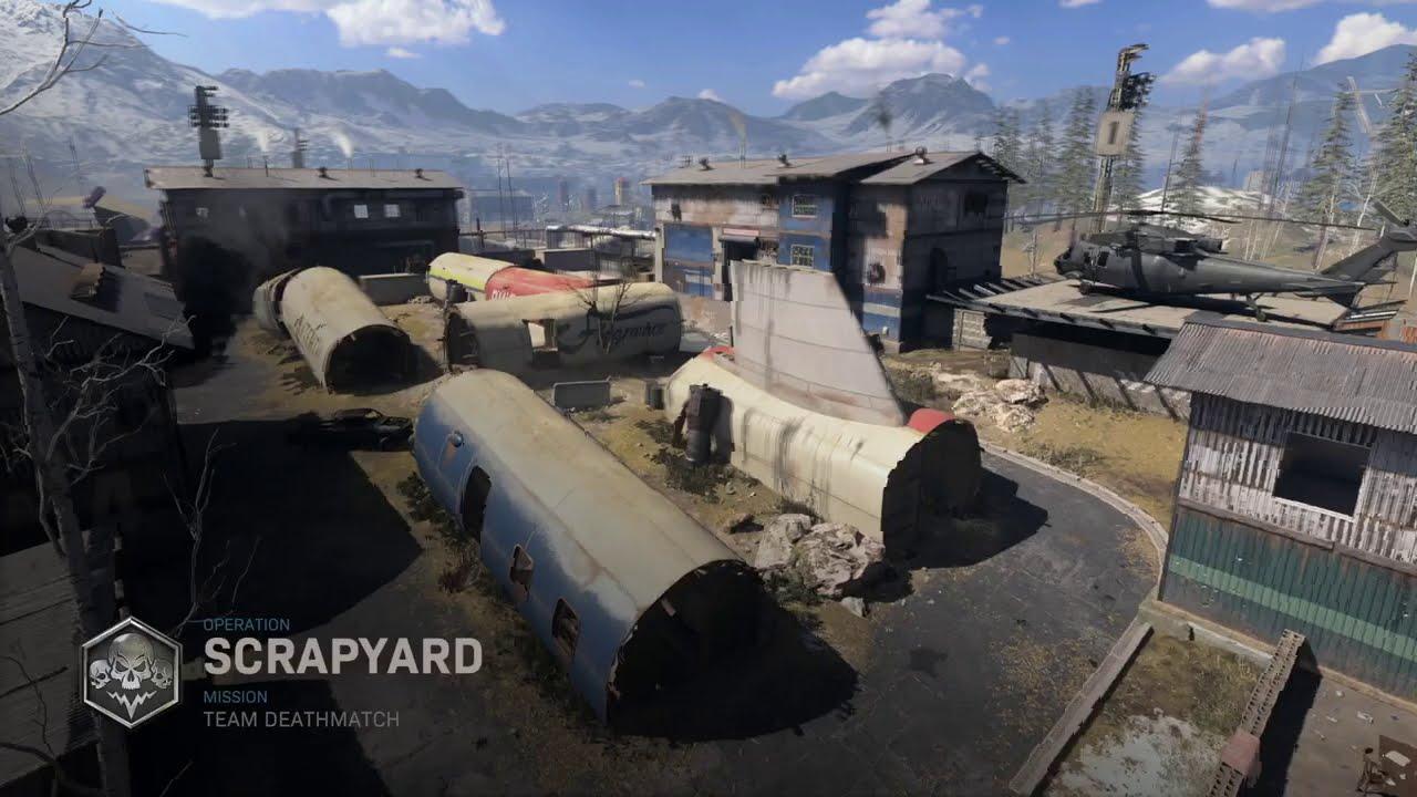 CoD: Modern Warfare Scrapyard Fun - Legendary Map and The M13 - PS4 PRO 4K to 1080p