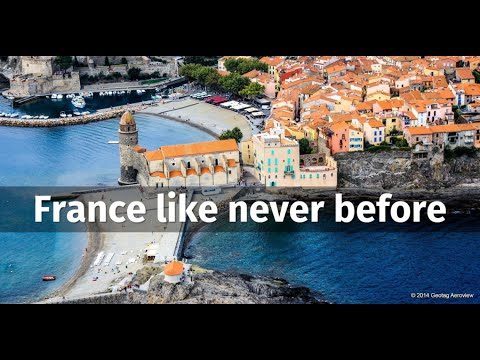 Fly over the coastline of Mediterranean France with Tripinview
