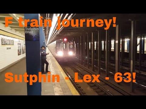 MTA NYC Subway: On board R160A (F) train from Sutphin Blvd - Lexington Ave - 63 St