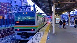 【台風前は天気が良かった】JR東日本 大宮駅 3番線 普通電車上野行き 15両編成 発車 thumbnail