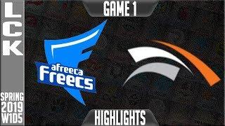 af-vs-hle-highlights-game-1-lck-spring-2019-week-1-day-5-afreeca-freecs-vs-hanwha-life-esports
