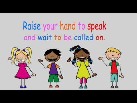 Raise Your Hand To Speak A Classroom Rules Song