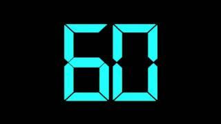60 Second Timer Countdown Digital Blue