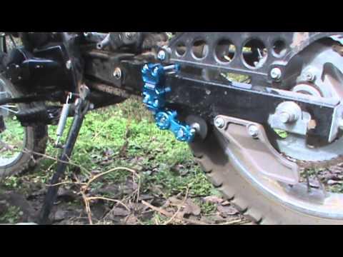 Установка успокоителя цепи на мотоцикл Рейсер Пантера