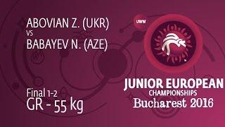 GOLD GR - 55 kg: N. BABAYEV (AZE) df. Z. ABOVIAN (UKR), 4-2
