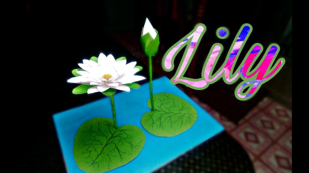 Water lily | Spring flower art, Paper flowers, Fabric flowers | 720x1280
