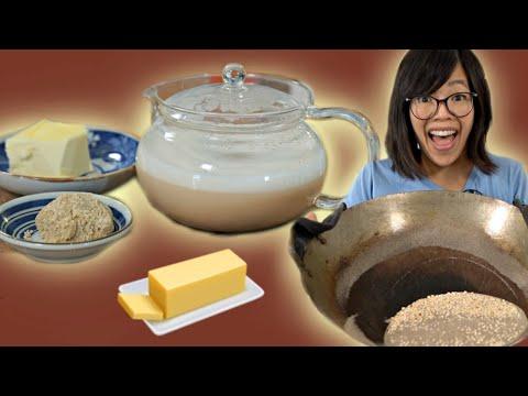 How to Make BUTTER Tea & Tsampa - roasting barley with SAND