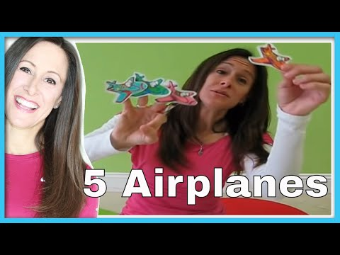 5 Little Airplanes Children's Song   Counting Song   Numbers Song for Kids   Patty Shukla