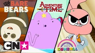 Adventure Time + Gumball + We Bare Bears | Babysitten | Cartoon Network