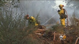 Crews Battle To Contain Thomas Fire In Santa Barbara County