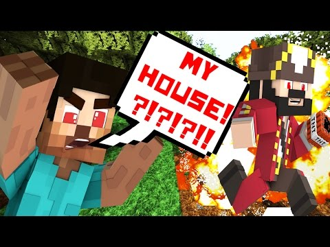 MY HOUSE!!??!?!!?!! Minecraft Trolling & Griefing