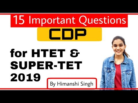 CDP Important Questions for HTET & SUPER-TET 2019 | बाल विकास
