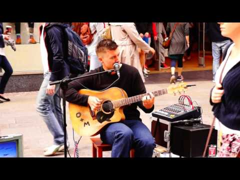 Amazing voice & guitar- Grafton Street (Dublin) August 2014