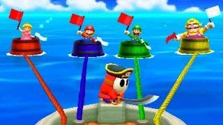 Mario Party: The Top 100 - Minigames - Peach vs Mario vs Luigi vs Wario