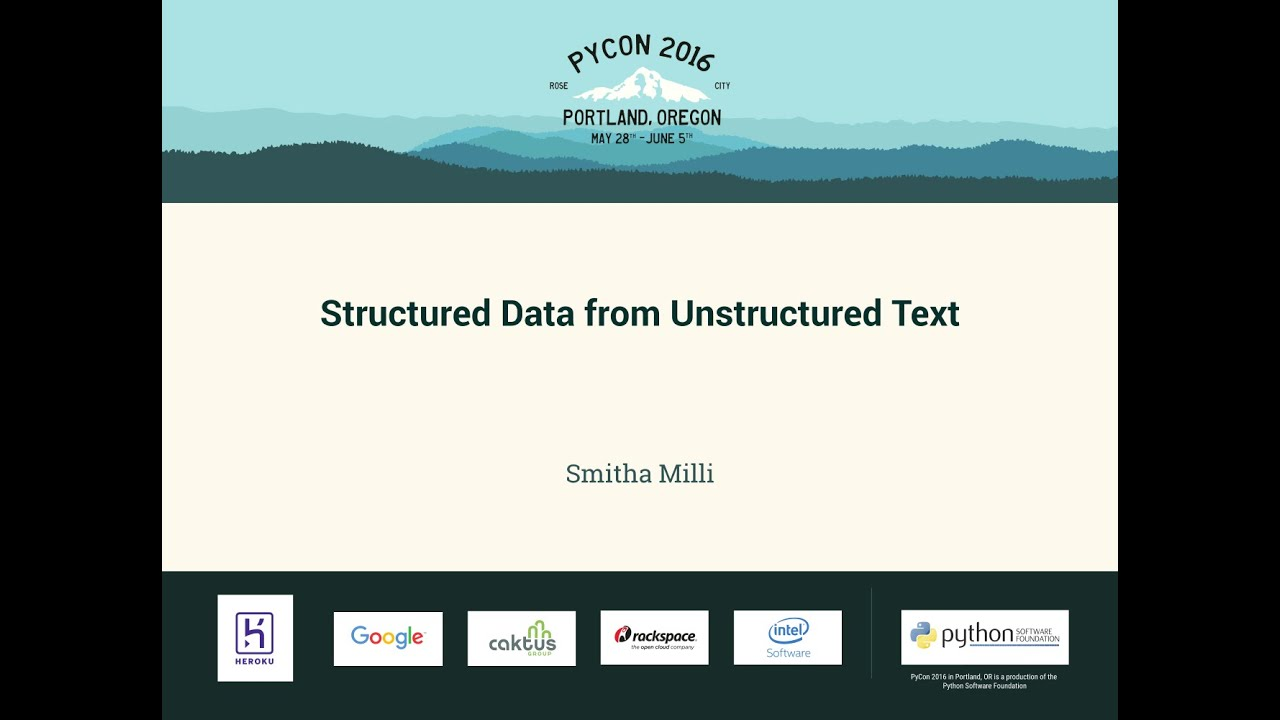Image from Structured Data from Unstructured Text