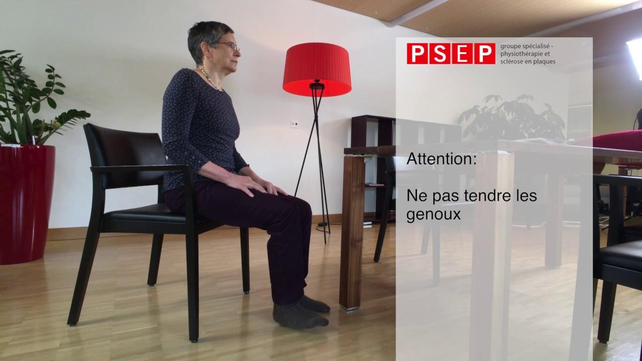 Exercice de physiothérapie «Le jeu des jambes»