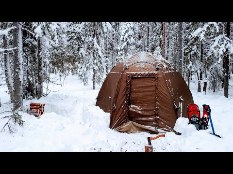WINTER CAMPING 2020. 2 DAYS ONE IN THE FOREST.