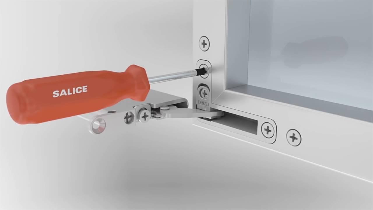 Bisagra salice air para puertas de aluminio youtube - Bisagras para puertas de cocina ...