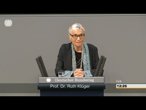 Prof. Dr. Ruth Klüger zur Gedenkstunde für die Opfer des Nationalsozialismus ( Bundestag, 27.1.2016)
