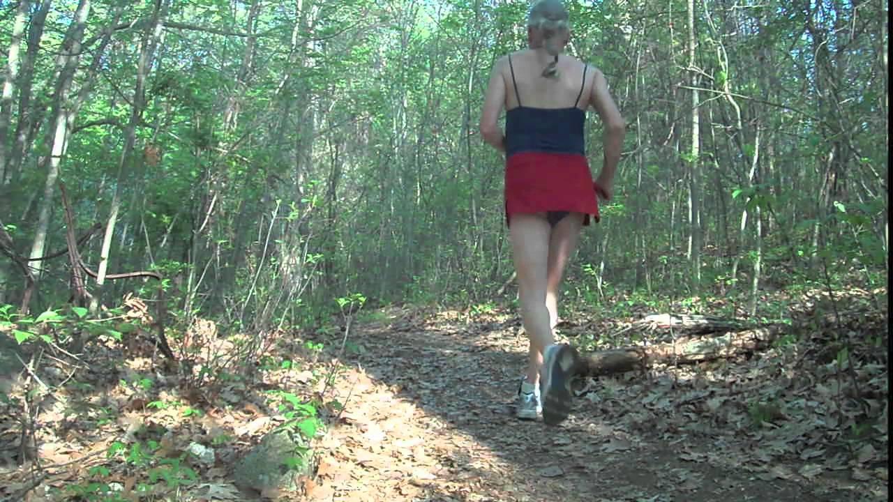 Crossdresser Im Wald