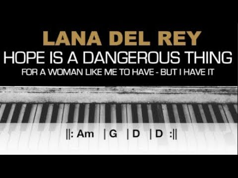 Lana Del Rey - Hope Is A Dangerous Thing... Karaoke Chords Acoustic Piano Cover Instrumental Lyrics