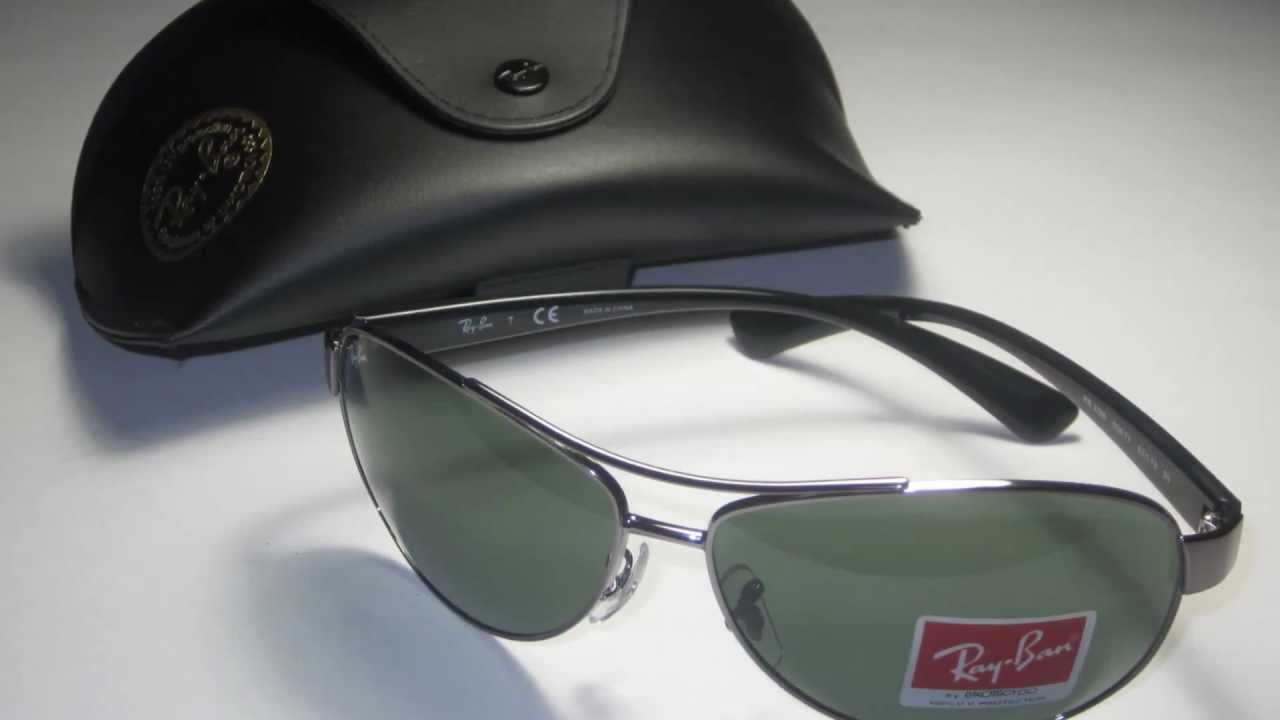 6dd097679c Ray Ban RB 3386 004 71 Gunmetal Sunglasses - YouTube