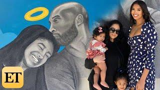Vanessa Bryant and Daughters Visit Kobe and Gianna Mural