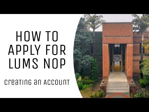 Creating an Account | How to Apply for LUMS National Outreac