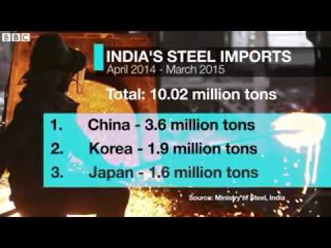 India s steel war with Chinese metal makers   BBC News