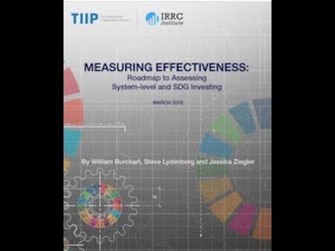 Webinar | Measuring Effectiveness  Roadmap to Assessing System & SDG Investing