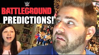 WWE BATTLEGROUND 2016 PREDICTIONS! FULL CARD PPV MATCH ANALYSIS GRIM VS HEEL WIFE BET!