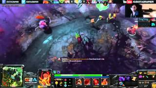 Gameplay of SingSing Dota 2  warlock i have 4 kid