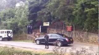 Prince Charles Arriving at Mencefep, Nuwara - Eliya Sri Lanka