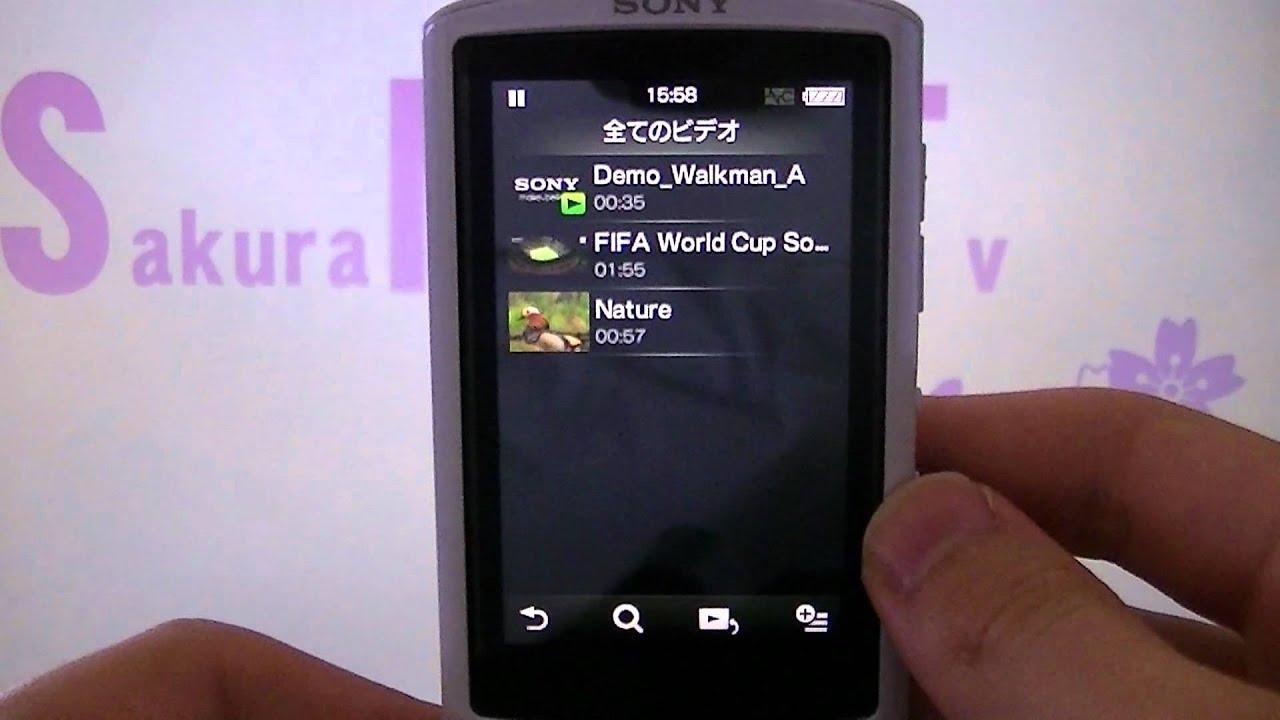 Walkman A860 動画について Youtube